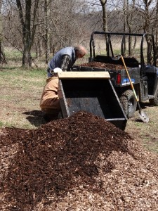 David and Suzan deliver more wood chips