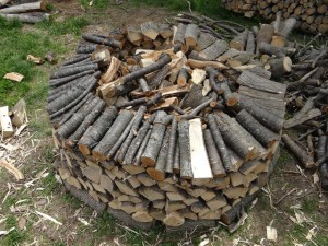 firewood yurt construction