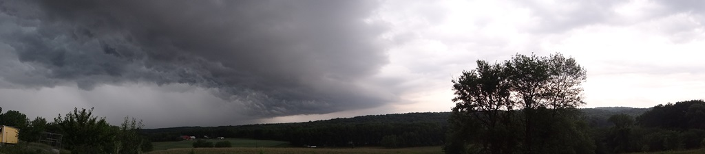 panorama roiling clouds